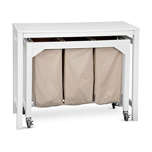 Laundry Folding Table with 3 Clothes Hampers by Improvements by Improvements