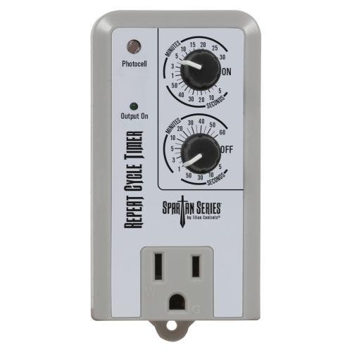 Titan Controls Repeat Cycle Timer, Single Outlet, 120V - Spartan Series (Titan Single)