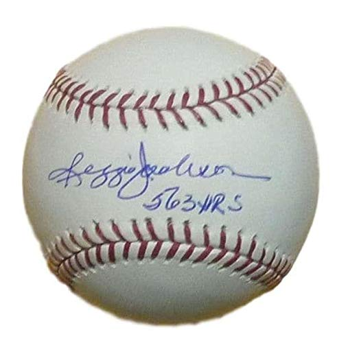 (Reggie Jackson Autographed Baseball - OML 563 HRs 11783 - JSA Certified - Autographed)