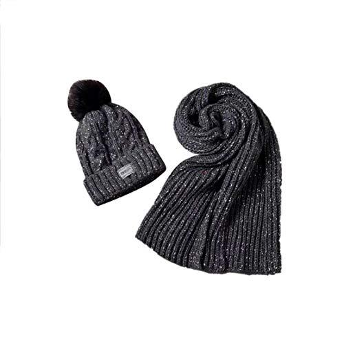 donna guanti di sciarpa da Set Acvip scuro e grigio guanti nH0qx