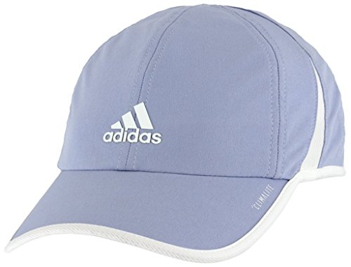 - adidas Women's Superlite Relaxed Adjustable Performance Cap, Chalk Blue/White, One Size