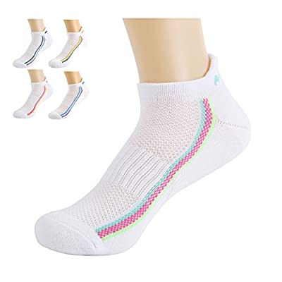 Top Aaronano Women's Athletic Running Socks (5 pairs,3 Bundles Sorted,Size 5-8.5) with Cushion for Running,Casual Use