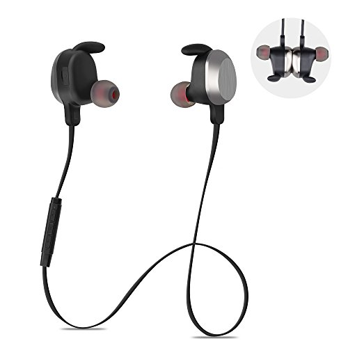 Xunpuls Wireless Headphones Bluetooth Earphones HD Mic Stereo Noise Isolation Sweatproof Waterproof IPX5 Headsets Magnetic Sports Outdoor Gym Running