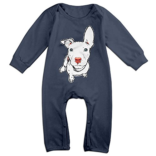 Price comparison product image Pit Bull Dog Baby Fashion Jumpsuit Romper Climbing Clothes Navy