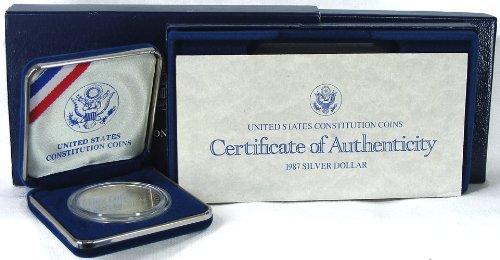 1987 Uncirculated Us Constitution Commemorative Silver