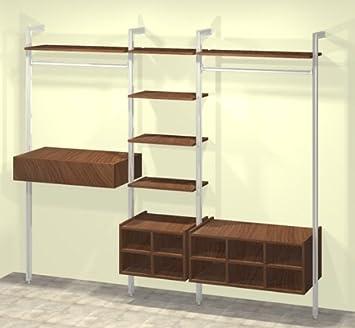 Home Organisation - Relax Wardrobe Storage Unit in Walnut & Home Organisation - Relax Wardrobe Storage Unit in Walnut: Amazon.co ...