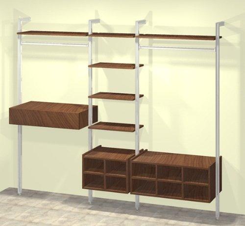 Home Organisation   Relax Wardrobe Storage Unit In Walnut: Amazon.co.uk:  Kitchen U0026 Home