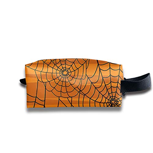 (Makeup Cosmetic Bag Scary Halloween Spiders Graphics Medicine Bag Zip Travel Portable Storage Pouch for Mens)