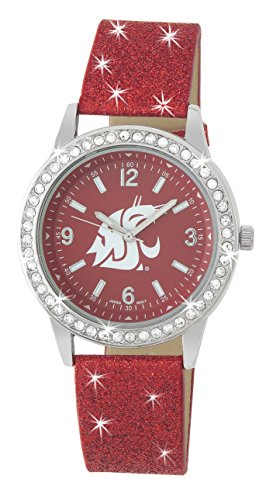 Cougars Womens Watch (WASHINGTON STATE COUGARS GLITTER WATCH-WASHINGTON STATE UNIVERSITY LADIES GLITTER WATCH)