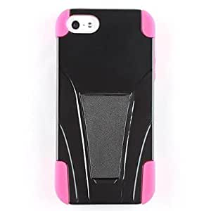 Mini - Fashion Stent Soft Rubber Case with Stand for iPhone 5/5S , Color: Black