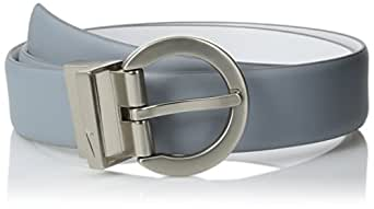 Nike Women's Reversible Classic Belt, Dove Grey/White, X-Small