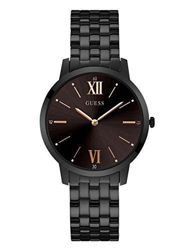 Guess Mens Black Ion Plated - GUESS Men's Black Ion-Plated Casual Watch, Color: Black (Model: U1072G3)