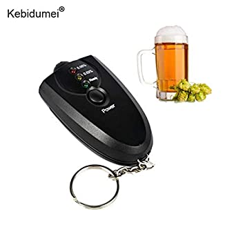 Professional Car Alcohol Tester High Accuracy Detector Alcohol Alkohol Detector Breathalyzer Alcotest LED Flashlight