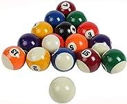East Eagle Pool Balls Mini Pool Balls Set,1-1/2 Inch Billiard Balls Set Not Regulation Size, Complete 16 Ball