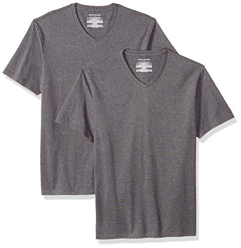 Essentials mit Shirt Amazon 2 T pack Slim Fit V Ausschnitt odCxBreW