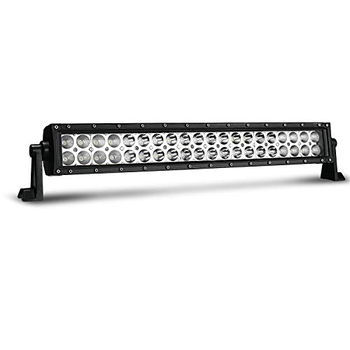 TURBOSII 20/22 In 120W Led Light Bar Spot Flood Combo Beam Offroad Driving Lights Grille Front Bumper For F150 Golf Cart Jeep Truck Yamaha Rhino Atv 4 Wheeler Duck Boat -