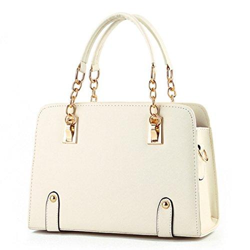 Sacchetti di spalla delle borse di cuoio dei sacchetti di Tote di modo delle signore delle nuove donne di disegno caldo di lusso Bianca