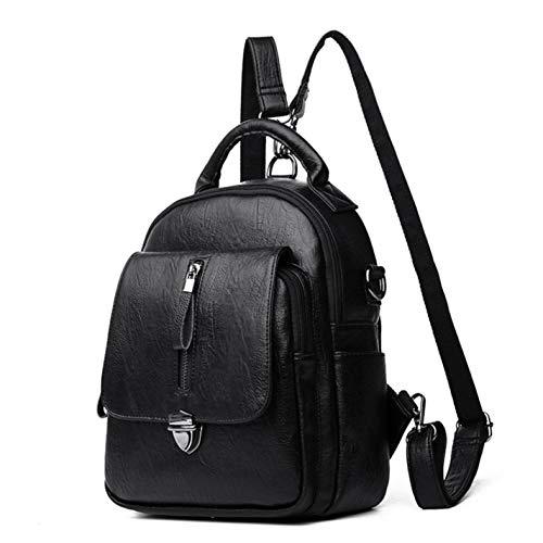 Backpack Shoulder Backpack Travel Blue Women's Back Leather Rz5wxqz80