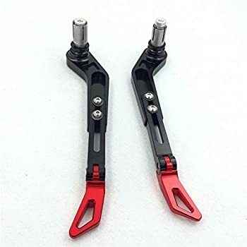HTT Motorcycle Adjustable Angle Length Black Red CNC 7/8