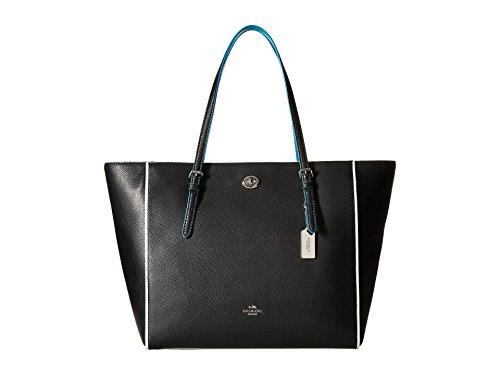COACH Women's Edgestain Turnlock Tote Sv/Black Tricolor - Handbags Coach Colorful