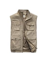 Mens Pockets Jacket Outdoors Travels Sports Vest Tops