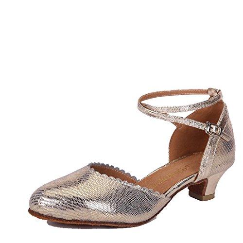 (WXMDDN Latin Dance Shoe Light Blond Dance Shoe 3.5cm Indoor Dance Shoe Leather Dance Shoe Soft Floor Jazz Dance Dance Shoe,E41)