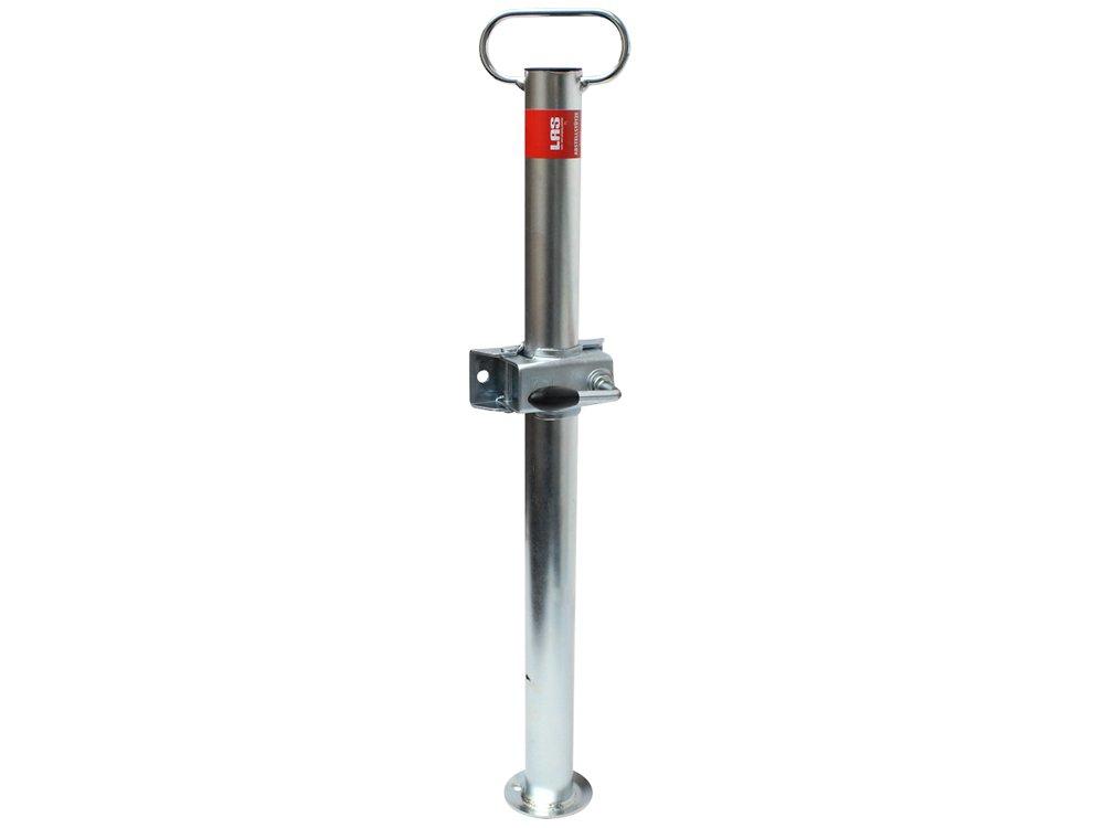 Las 10628 Pied support de 48 x 700 mm avec fixation pour roue jockey de 48 mm EAL GmbH