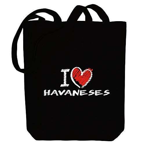 Dogs Havaneses style love Canvas I Bag chalk Idakoos Tote AEpZFXqWn
