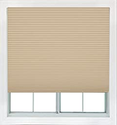 Easy Lift, 36-inch by 64-inch, Trim-at-Home (fits windows 21-inches to 36-inches wide) Cordless Pleated Shade, Light Filtering, Natural