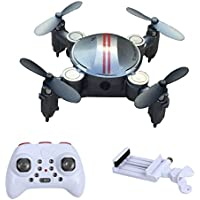 Mochiglory Mini Foldable Remote Controll Airplane Outdoor Toy 2.4GHz Quadcopter RC 3D Flying Drone With WIFI Camera