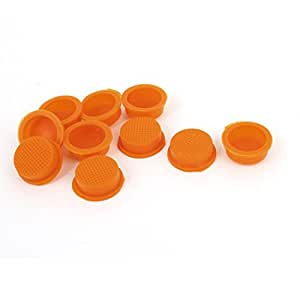 10 piezas de 13 mm de diámetro Cabeza Interruptor basculante impermeable cubierta del casquillo de naranja caso