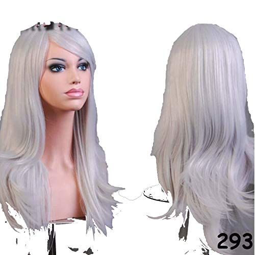 56CM Loose Wave Synthetic Wigs for black women Cosplay wig Blonde Blue Red Pink Grey Purple Hair for human party,#17,22inches