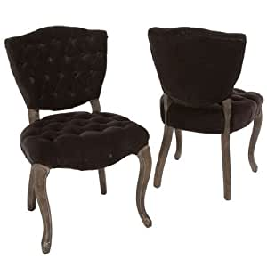 Bates Tufted Fabric Dining Chairs (Set of 2)