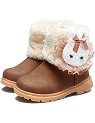 CIOR Snow Boots Toddler Girls Boys Winter Warm Fur Kids Outdoor Shoes