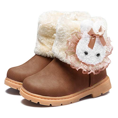 a0fb7a402 CIOR Fantiny Snow Boots Baby Girls Infant Toddler Winter Fur Rabbit ...