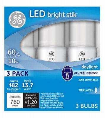 GE Lighting 79369 LED Bright Stik 10-watt (60-Watt Replacement)  sc 1 st  Amazon.com & Amazon.com: GE Lighting 79369 LED Bright Stik 10-watt (60-Watt ...