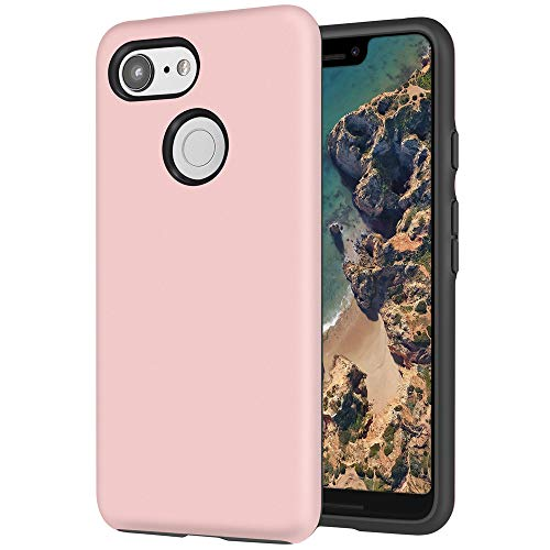 Topnow Google Pixel 3 XL Case,Ultra Soft TPU + PC [Shock Absorbent] Premium Protective Case Cover for Google Pixel 3 XL(2018)-Rose Gold