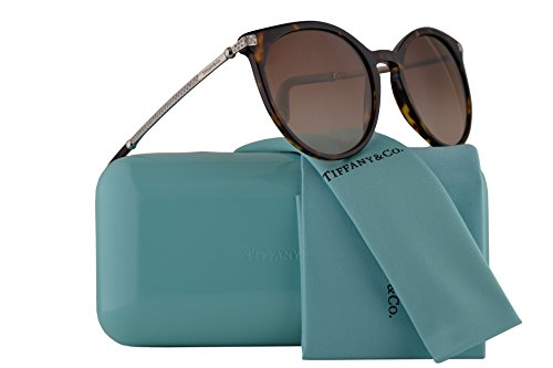 Tiffany & Co. TF4142B Sunglasses Dark Havana w/Brown Gradient Lens 54mm 80153B TF4142-B Tiffany&Co. TF 4142B TF - Frames Tiffany Ophthalmic