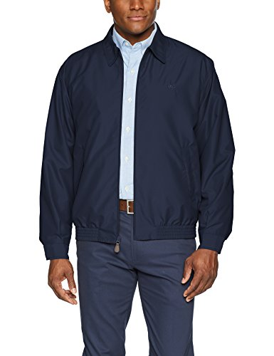 Chaps Men's Classic Fit Full-Zip Microfiber Jacket, Newport Navy, XL