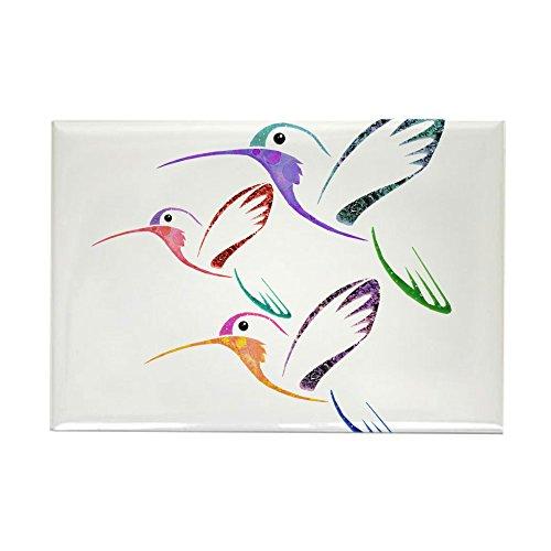 CafePress - Patchwork Trio Of Hummingbirds - Rectangle Magnet, 2