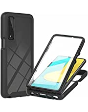 CRABOT Compatible with LG Stylo7 5G Case Dust-Proof Shockproof Full Protection Cases Built-in Screen Protector Body 360℃ Fully Sealed Protective Front and Back Cover-Black