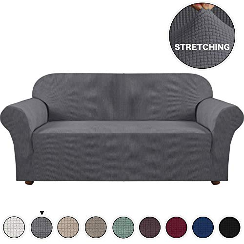 Turquoize Grey Sofa Slipcover High Spandex Jacquard