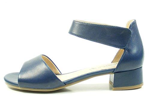Caprice 28212, Sandalia con Pulsera Para Mujer Blau