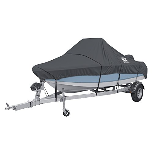 - Classic Accessories StormPro Heavy Duty Center Console Boat Cover, For 17'-19' Long, Up to 102