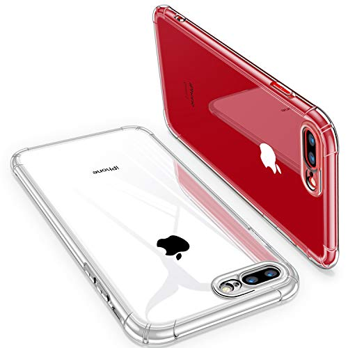 iPhone 8 Plus Case, iPhone 7 Plus Case, CANSHN Clear iPhone 7/8 Plus Case with Shock Absorption Technology Bumper Protective Case for iPhone 7 Plus (2016)/iPhone 8 Plus (2017) - Clear