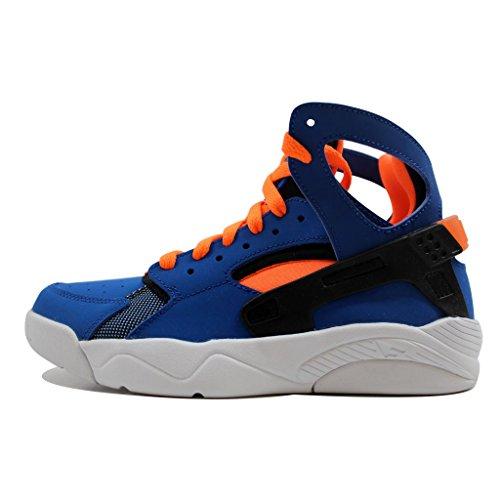 Nike Kids Air Flight Huarache (GS) Game Royal/Ttl Orange/Blck/Wht Basketball Shoe 5.5 Kids US