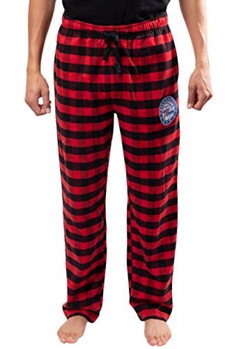 NBA Philadelphia 76Ers Mens Sleepwear Super Soft Flannel Pajama Loungewear Pants, Red, XX-Large