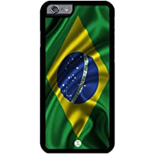 iZERCASE iPhone 6, iPhone 6S Case Brazilian Flag Brazil RUBBER CASE - Fits iPhone 6, iPhone 6S T-Mobile, Verizon, AT&T, Sprint and International