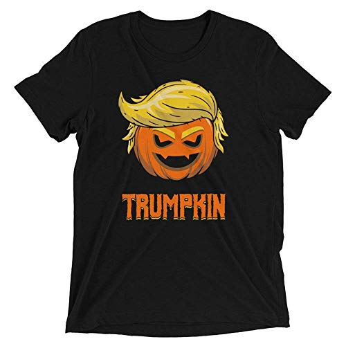 Trumpkin Lantern Pumpkin trump Halloween Costume Trick or Treat Parody Meme Funny Donald Trump Customized Handmade T-Shirt ()