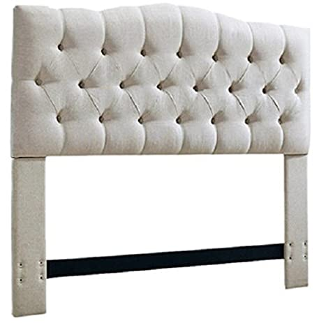 Padded Upholstered Headboard Linen Fabric Bedroom Furniture Tufted Button  Style (full/queen)